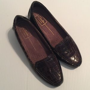 Clarks 'Everyday' Brown Leather Casual Shoes Sz 7M